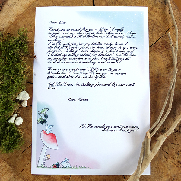 Bunny writing paper stationery - sample