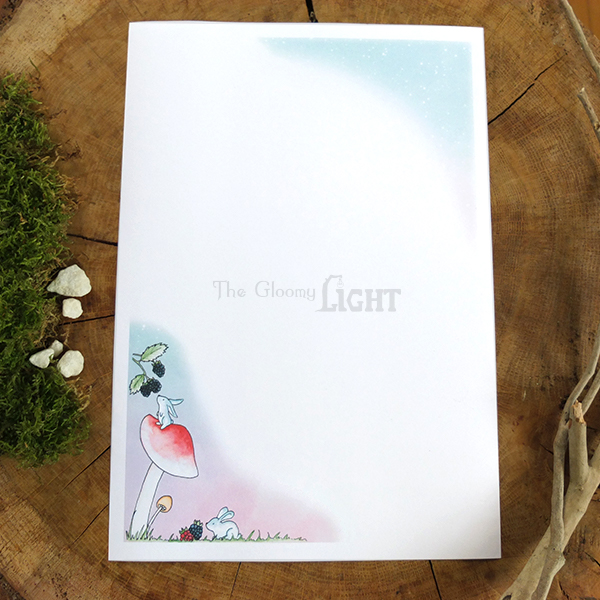 Bunny writing paper stationery - overview