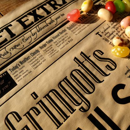 Geeky gift - Wizarding Newspaper Poster - Sherbet Extra - detail 2