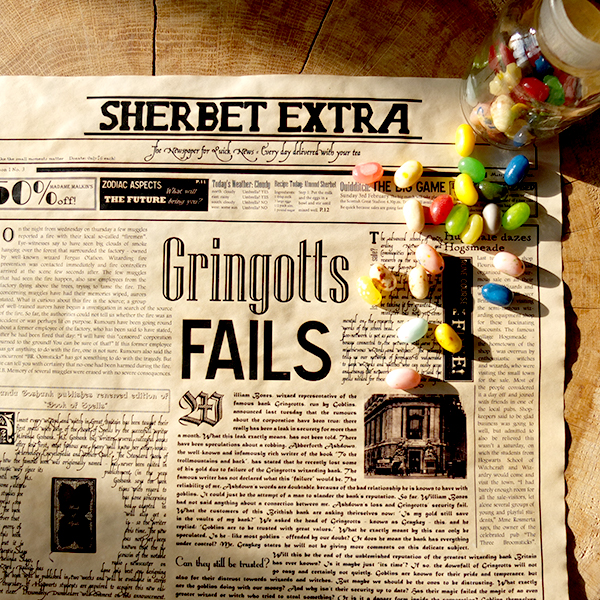 Geeky Wizard Newspaper Poster - Sherbet Extra