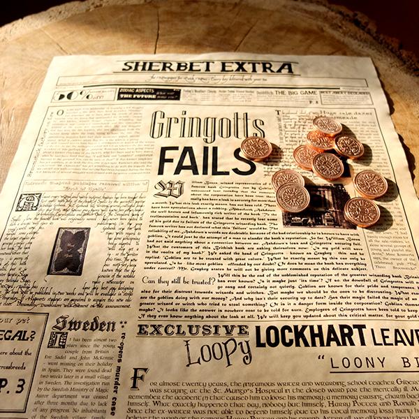 Geeky Gift - Wizarding Newspaper Poster- Sherbet Extra money shot