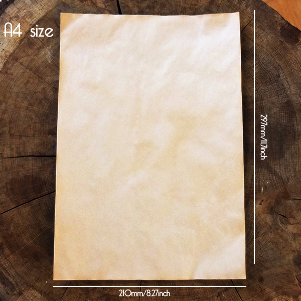Aged paper | vintage look - measurements