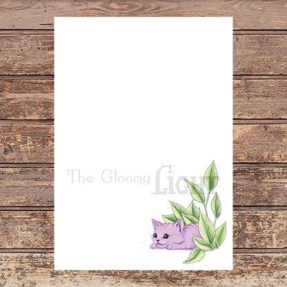 Cheshire Kitten PDF letter paper | Printable Stationery - sample file