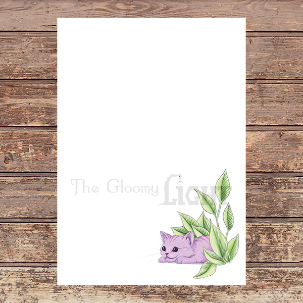 Cheshire Kitten PDF letter paper | Printable Stationery - sample file