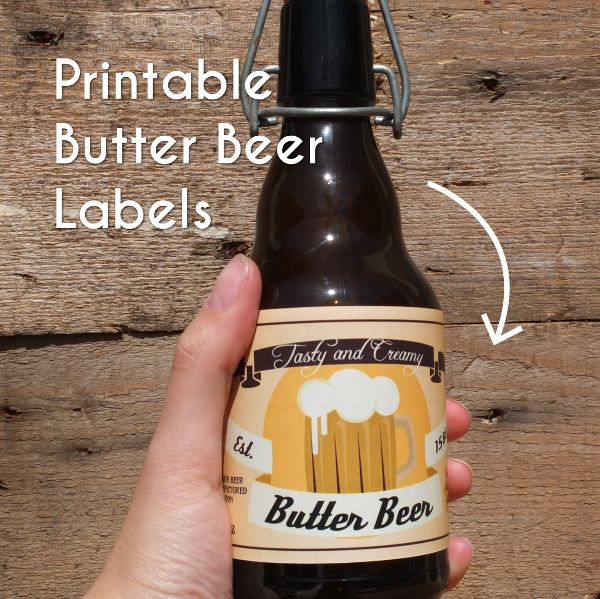 photograph about Printable Beer Labels identify Butter Beer labels - Printable PDF