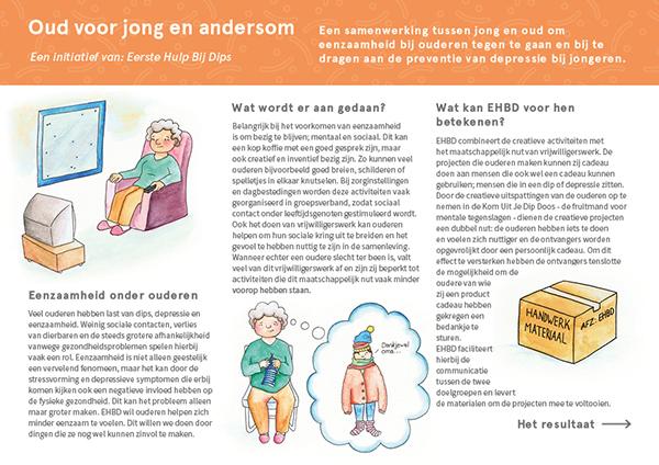 """Illustrations for the brochure """"Oud voor jong en andersom"""""""
