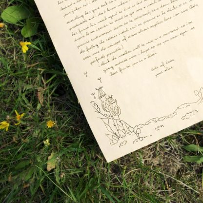 Plants and rocks - Aged stationery writing paper - close up left corner