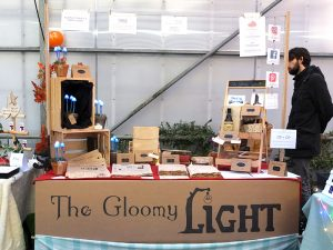 The Gloomy Light booth at the Etsy made in NL craft fair, 25-11-2017