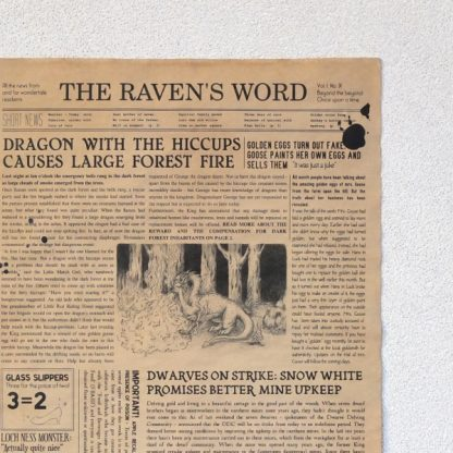 The Raven's Word 1st Edition - front close-up