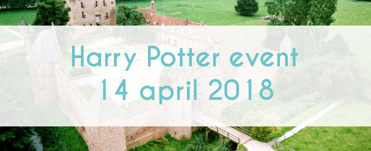 Header for the Harry Potter event April 2018 Kasteel Doornenburg Nederland